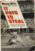 Autographs:Letters, Maury Wills Multi Signed Book including Jackie Robinson. In 1963with the help of Steve Gardner, Maury Wills wrote a book d...