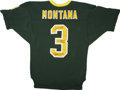 Football Collectibles:Others, Joe Montana Signed Notre Dame Throwback Jersey. When the 1977 Notre Dame football season began, a young man named Joe Monta...