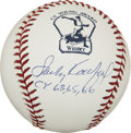 Autographs:Baseballs, Sandy Koufax Single Signed Cy Young Baseball. Special commemorativebaseball created to honor winners of the Cy Young Award...