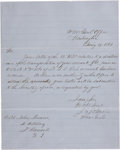 Autographs:Military Figures, Joseph E. Johnston Letter Signed ...
