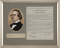 Autographs:U.S. Presidents, Andrew Johnson Signature...