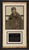 Autographs:Military Figures, Charles A. Lindbergh Photograph Signed...