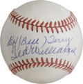 Autographs:Baseballs, Ted Williams and Bill Terry Dual-Signed .400 Hitters Baseball. Thelast man in each league to eclipse the .400 mark for his...