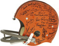 Football Collectibles:Helmets, 1964 Cleveland Browns Team Signed Helmet. A franchise that possesses one of the most iconic helmet designs in all of footba...