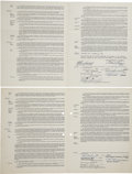 Autographs:Others, 1950-51 Signed Player Contracts with William Harridge and HankGreenberg. While these mid-20th century contracts for one-ti...