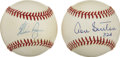 Autographs:Baseballs, Don Sutton and Nolan Ryan Single Signed Baseballs Lot of 2.Brilliant pair of single signed baseballs comes from two Hall o...