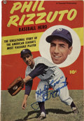 Autographs:Others, 1951 Phil Rizzuto Signed Comic Book. Created on the heels of his1950 AL MVP award, this comic tells the story of the Hall ...