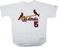 Baseball Collectibles:Uniforms, 2001 Albert Pujols Game Worn Rookie Jersey. Don't tell TedWilliams, but there has been talk that this devastating Dominica...