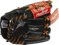 Autographs:Others, Derek Jeter Signed Glove. Attractive Rawlings Derek Jeter storemodel glove, black with brown leather stitching, is new in ...