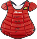 Autographs:Others, 2000 All-Star Game Chest Protector Signed by 5 Catchers. All of theparticipating backstops from the 2000 Major League All-...