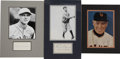 Autographs:Photos, Vintage Baseball Stars Signatures Lot of 3 . Great trio of matted display pieces offered here collects the signatures of t...