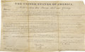 Autographs:U.S. Presidents, John Quincy Adams Land Grant Signed ...