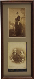 Autographs:U.S. Presidents, Rutherford B. Hayes Signed Cabinet Card... (Total: 2 Items)