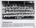 Autographs:Photos, 1956 Brooklyn Dodgers Team Signed Photograph. The borough ofBrooklyn could breathe a collective sigh of relief when their ...