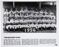 1956 Brooklyn Dodgers Team Signed Photograph. The borough of Brooklyn could breathe a collective sigh of relief when the...