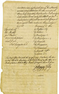 Autographs:Military Figures, Native American Land Deed, a True Copy Dated April 29, 1749. ...
