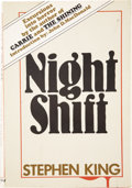 Books:First Editions, Stephen King. Night Shift. Garden City: Doubleday &Company, Inc., 1978....