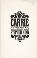 Books:First Editions, Stephen King. Carrie. Garden City, New York: Doubleday &Company, Inc., 1974.... (Total: 2 Items)