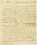Autographs:Military Figures, Historically Important British Maj. Gen. William PhillipsManuscript Letter to Gen. George Washington,...
