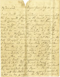 Autographs:Military Figures, Bunker Hill - Autograph Letter Signed by Edward Montagu ...