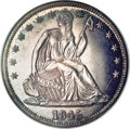 Proof Seated Half Dollars, 1845 50C PR64 NGC....