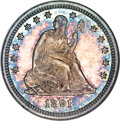 Seated Quarters, 1891-O 25C Specimen MS65 NGC....