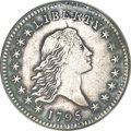 Early Half Dollars, 1795 50C Two Leaves, O-105, High R.3--Plugged, Repaired,Cleaned--ANACS. XF40 Details....