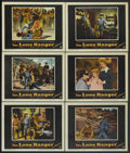 """Movie Posters:Western, The Lone Ranger (Warner Brothers, 1956). Lobby Cards (6) (11"""" X 14""""). Western.... (Total: 6 Items)"""