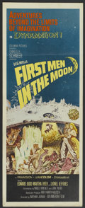 "Movie Posters:Science Fiction, First Men in the Moon (Columbia, 1964). Insert (14"" X 36""). ScienceFiction...."