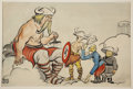 Mainstream Illustration, CARL ROSE (American 1903 - 1971). Axis Valhalla, circa 1944.Watercolor on board. 12.5 x 18.5 in.. Signed lower left. ...