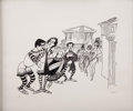 Mainstream Illustration, ALBERT HIRSCHFELD (American 1903 - 2003). Forum. Lithographprint. 19 x 23 in.. Signed lower right. ...
