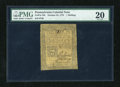 Colonial Notes:Pennsylvania, Pennsylvania October 25, 1775 1s PMG Very Fine 20....