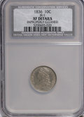 Early Dimes, 1836 10C --Improperly Cleaned--NCS. XF Details. Jr-1. NGC Census:(0/737). PCGS Population (2/1117). Mintage: 87,504,128...