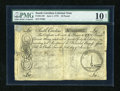Colonial Notes:South Carolina, South Carolina June 1, 1775 £10 PMG Very Good Net 10....