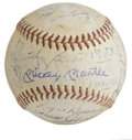 Autographs:Baseballs, 1958 New York Yankees Team Signed Baseball. The 1958 New York Yankees prevailed over the Milwaukee Braves to win the World ...
