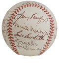 Autographs:Baseballs, 1998 Hall of Fame Ceremony Multi-Signed Baseball. The ONL (Coleman)baseball holds signatures from baseball's stars present...