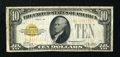 Small Size:Gold Certificates, Fr. 2400 $10 1928 Gold Certificate. Very Good-Fine.. ...