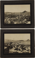 Western Expansion:Goldrush, Two Very Early Goldfield, Nevada Imperial Size Photographs by A.Allen.... (Total: 2 Items)