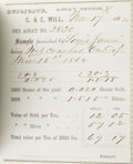 Western Expansion:Goldrush, Gould and Curry Mining Company Assay Report Book Virginia City,Nevada, 1864-1865....