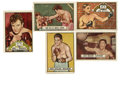 Boxing Cards:General, 1951 Topps Ringside Boxing Collection (31). Includes #4, 7, 12, 13,(2) 14, (2) 21, 24 James Braddock (HOF), (2) 26, 27, (2...