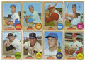 Baseball Cards:Sets, 1968 Topps Baseball Collection (125). Offered is a middle grade 1968 Topps collection of 125 different cards, including seve...