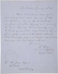 Miscellaneous:Ephemera, Manuscript Letter from San Francisco to Goldhill, (Nevada-UtahTerritory) 1860....