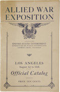 Miscellaneous:Booklets, Allied War Exposition Booklet, Las Angeles, 1918. . ...
