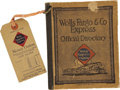 Miscellaneous:Booklets, Official Directory Wells Fargo & Co. Express, 1914.. ...