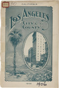 Miscellaneous:Booklets, Booklet Los Angeles Chamber of Commerce, California, 1906. ...