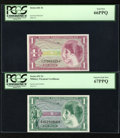 Military Payment Certificates:Series 641, Series 641 $1 PCGS Gem New 66PPQ. Series 651 $1 PCGS Super Gem New67PPQ.. ... (Total: 2 notes)