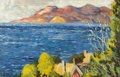 Fine Art - Painting, Russian:Modern (1900-1949), ALEXANDRE ALTMANN (Russian, 1885-1950). Untitled (landscape). Oil on canvas. 18-1/8 x 28-5/8 inches (46.0 x 72.7 cm). S...