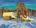 Fine Art - Painting, Russian:Contemporary (1950 to present), ALFRED SMIRNOV (Russian, b. 1928). Evening Sunlight, 1980.Oil on board. 16-1/2 x 21-1/2 inches (41.9 x 54.6 cm). Inscri...