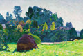 Paintings, NIKOLAI EFIMOVICH TIMKOV (Russian, 1912-1993). August Afternoon , 1964. Oil on board. 15 x 23 inches (38.1 x 58.4 cm). S...