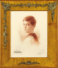 Fine Art - Painting, Russian:Modern (1900-1949), MIKHAIL RUNDALTSOV (Russian, 1871-1935). Alexei in a SailorSuit, 1913. Etching on paper. 21-7/8 x 16-3/4 inches (55.8 x...